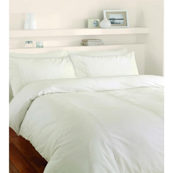 Catherine Lansfield Minimalist Duvet Set In Cream