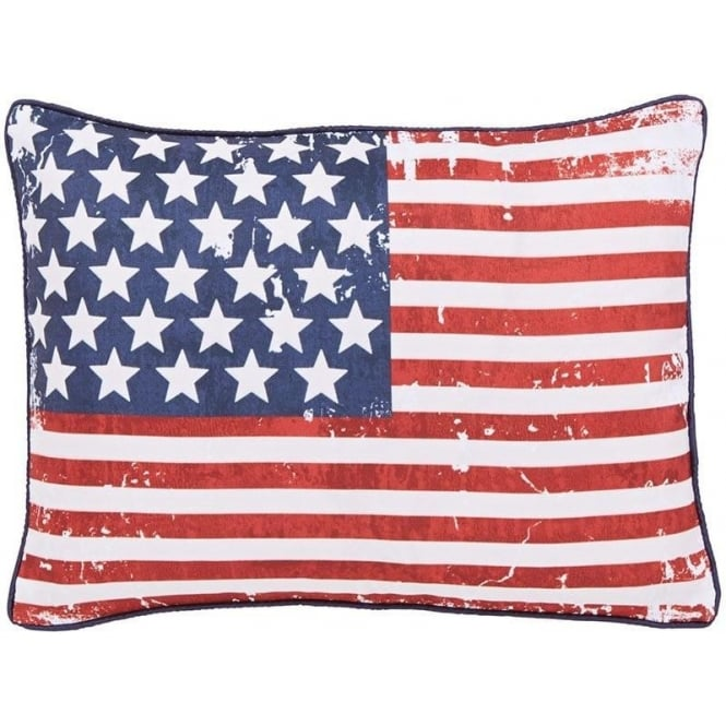 Catherine Lansfield New York Stars & Stripes Filled Cushion