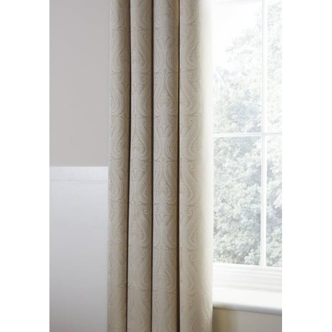 Catherine Lansfield Ornate Jacquard Curtains in Cream