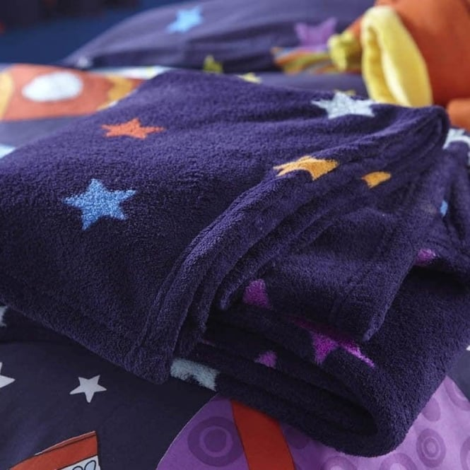 Catherine Lansfield Outer Space Bed Throw