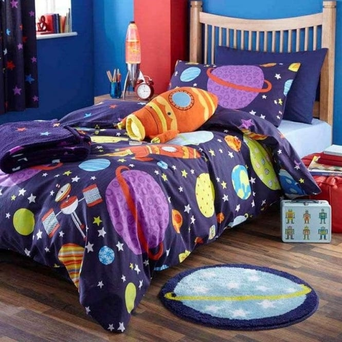 Catherine Lansfield Outer Space Single Duvet Set