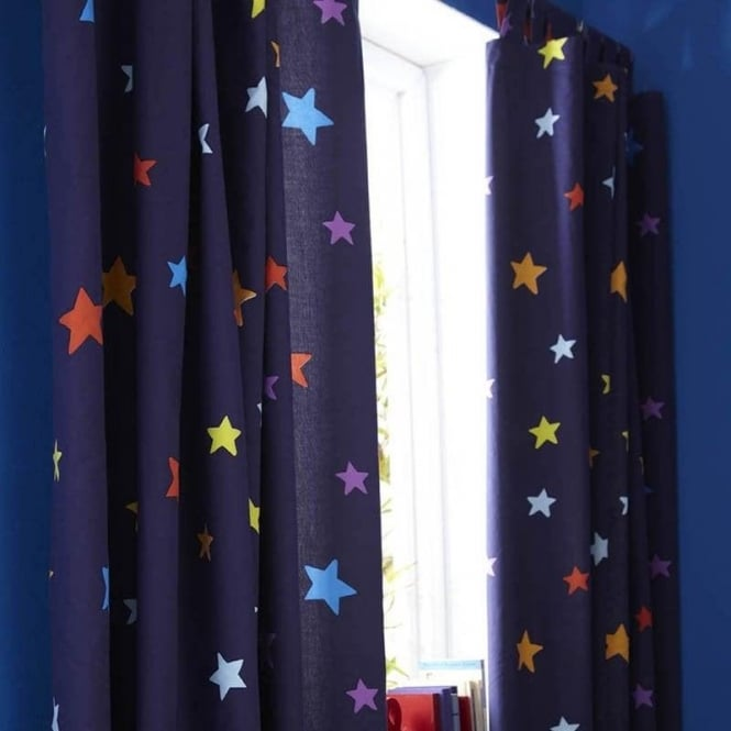Catherine Lansfield Outer Space Tab Top Curtains