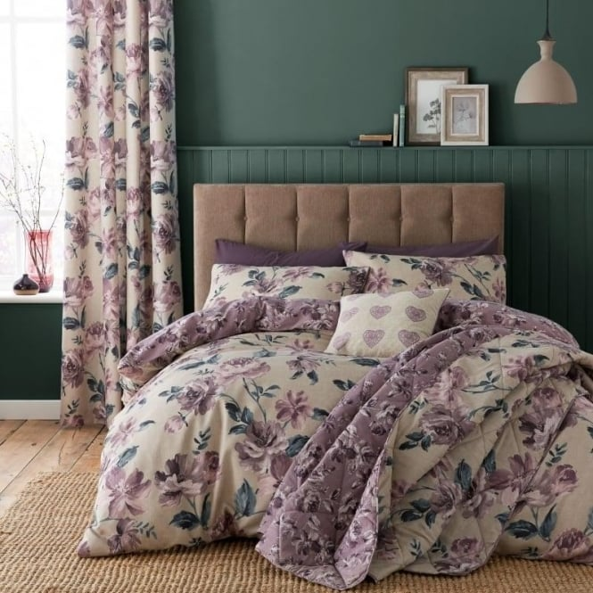 Catherine Lansfield Painted Floral Duvet Set