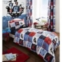 Catherine Lansfield Pirate Ship Eyelet Curtains