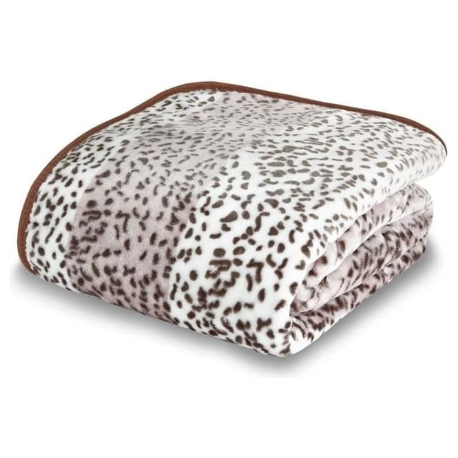 Catherine Lansfield Raschel Giraffe Animal Print Throw in Tan