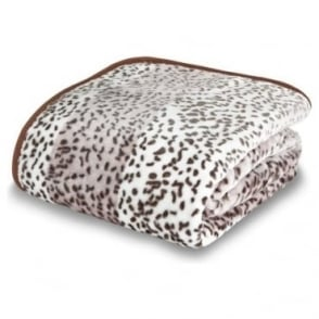 Raschel Giraffe Animal Print Throw in Tan