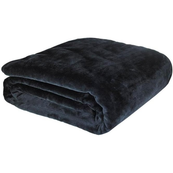 Catherine Lansfield Raschel Throw in Black