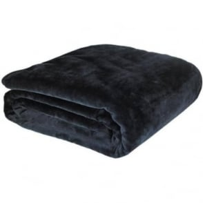 Raschel Throw in Black
