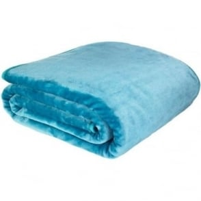 Raschel Throw in Blue