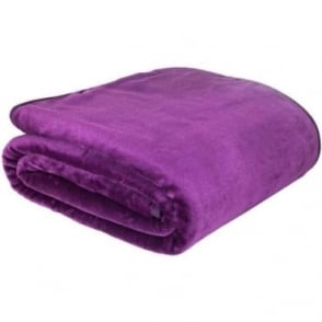 Raschel Throw in Purple