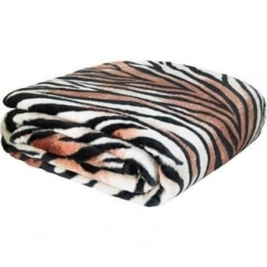 Raschel Tiger Print Throw