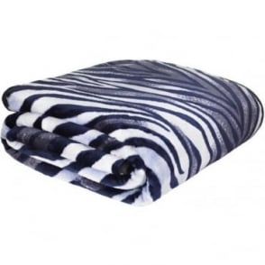 Raschel Zebra Print Throw