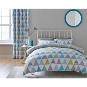 Scandi Geo Duvet Set in Multi