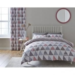 Scandi Geo Duvet Set in Pink