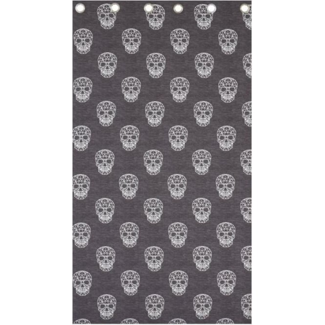 Catherine Lansfield Skulls Eyelet Curtains