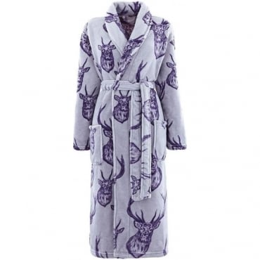 Stag Bathrobe in Grey
