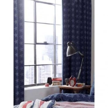 Stars and Stripes Tab Top Curtains
