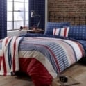 Catherine Lansfield Stars and Stripes Tab Top Curtains