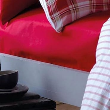 Tartan Fitted Sheet in Red