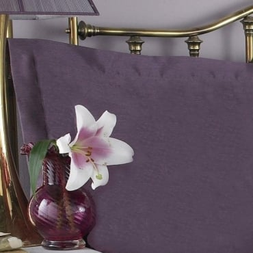 1 only Francesca Oxford Pillowcase Plum Jacquard/Polycotton