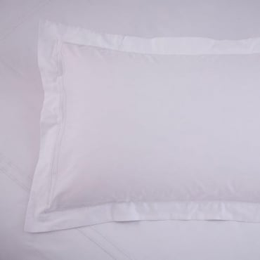 1 only Richmond Oxford Pillowcase White - 100% Cotton 300 Thread Count