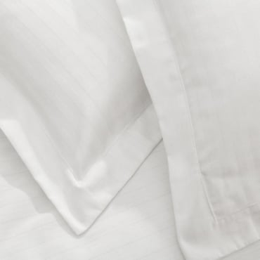 1 only Satin Stripe Oxford Pillowcase - Cotton Rich 200 Thread Count