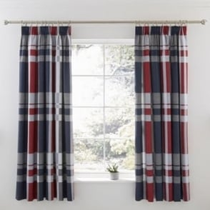 1 Pair Carson Pencil Pleat Curtains Polycotton 144 Thread Count