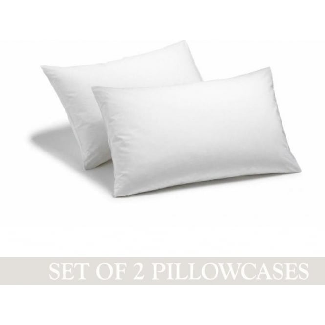 Charlotte Thomas 1 Pair Housewife Pillowcases - Percale Polycotton 180 Thread Count