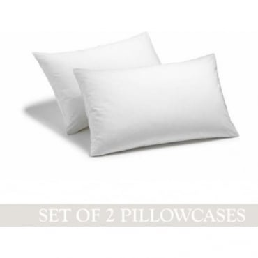 1 Pair Housewife Pillowcases - Percale Polycotton 180 Thread Count