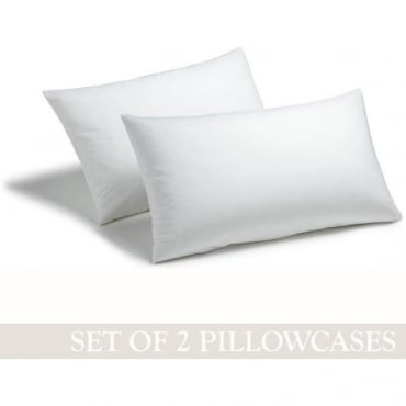 1 Pair Housewife Pillowcases - Polycotton 144 Thread Count