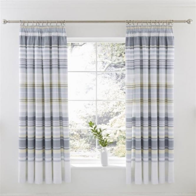Charlotte Thomas 1 Pair Nevada Pencil Pleat Curtains Polycotton 144 Thread Count