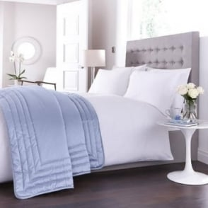 Antonia Bed Throw in Duck Egg Blue