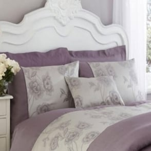 Antonia Duvet Cover Set - Light Purple & Grey