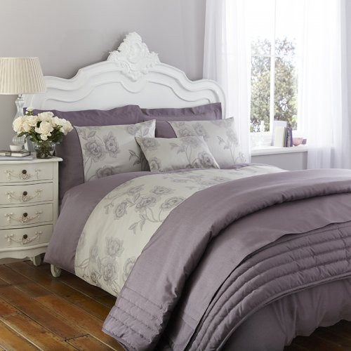 Charlotte Thomas Antonia Bed Set In Light Purple Amp Grey