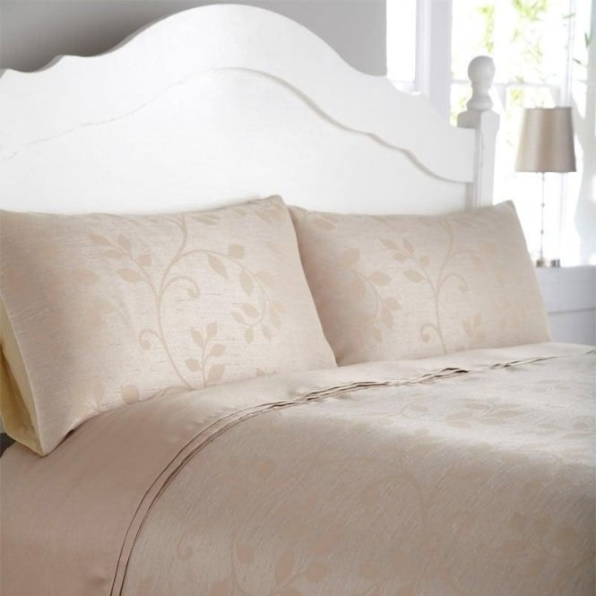 Charlotte Thomas Caterina Duvet Cover Set - Gold Jacquard/ Poly Cotton
