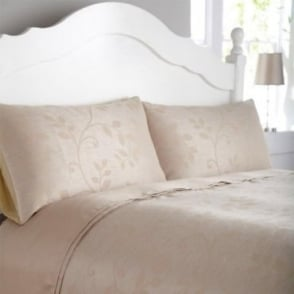 Caterina Duvet Cover Set - Gold Jacquard/ Poly Cotton