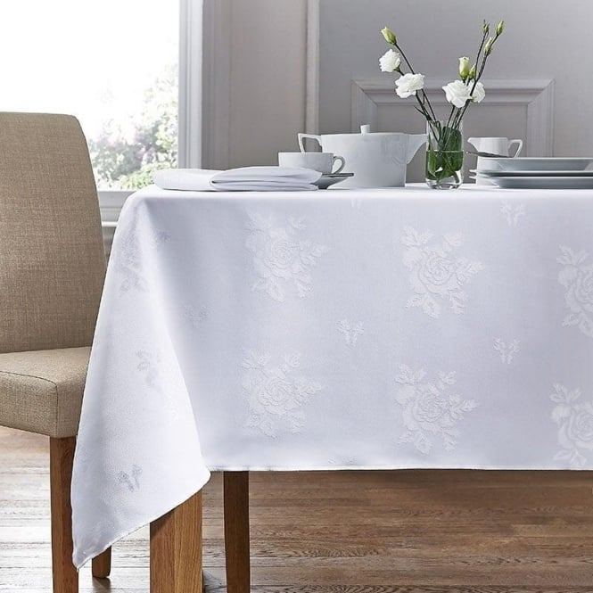 Charlotte Thomas Damask Rose Tablecloth