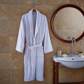 Extra Thick Bathrobe in White