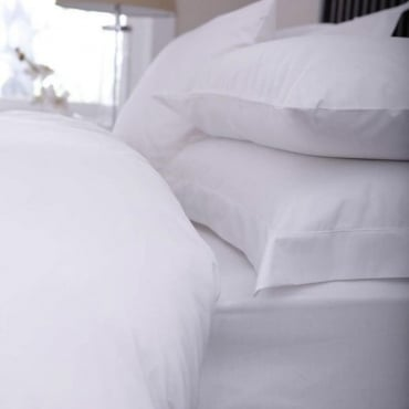 "Fitted Sheet - 12"" Deep 100% Cotton Luxury Percale 200 Thread count"