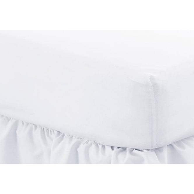 Fitted Sheet   12u0026quot; Deep Percale Polycotton 180 Thread Count