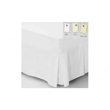 Fitted Valance Sheet Centre Pleated - Percale Polycotton 180 Thread Count