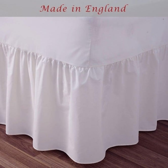 Charlotte Thomas Fitted Valance Sheet Frilled - Polycotton 144 Thread Count