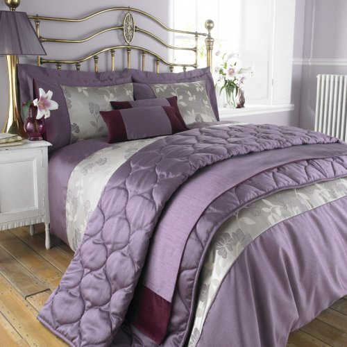 Charlotte Thomas Francesca Quilted Bed Throw In Plum: Charlotte Thomas Francesca Bed Runner In Plum