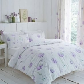 Kendall Floral Duvet Cover Set - Lilac Polycotton 144 Thread Count