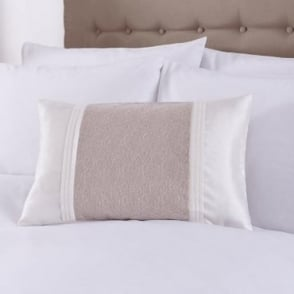 Lucia Cushion Cover in Beige & Ivory