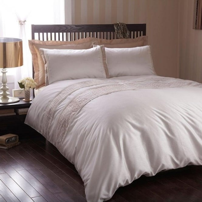 Charlotte Thomas Lucia Bed Set In Beige Amp Ivory Duvet