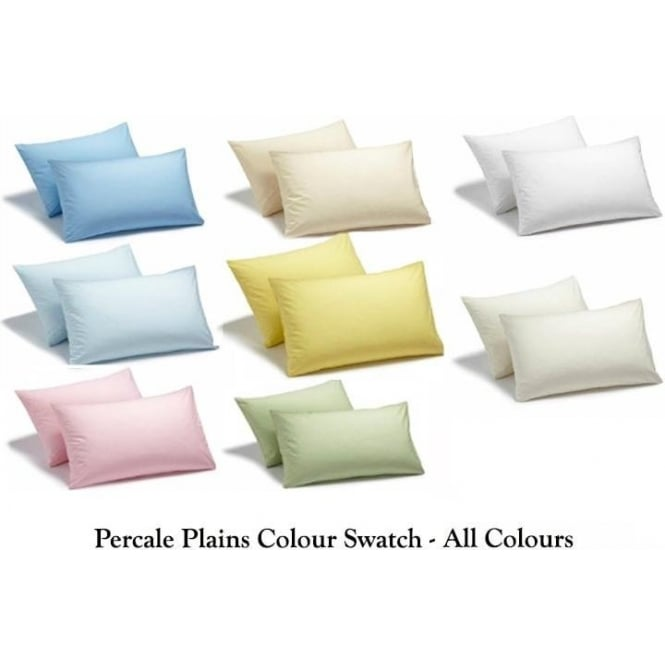 Charlotte Thomas Percale Plain Collection - Full Colour Swatch