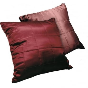 Reversible Cushion Cover in Claret
