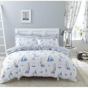 Salcombe Duvet Cover Set - Polycotton 144 Thread Count