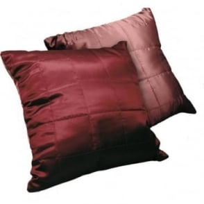 SET of 2 - Reversible Cushion Covers in Claret